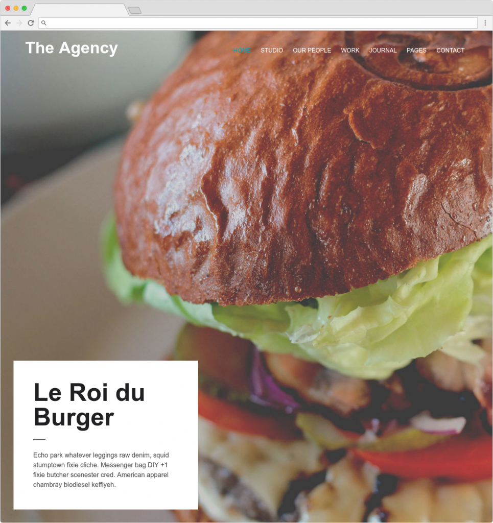 The Agency WordPress Creative Responsive Theme