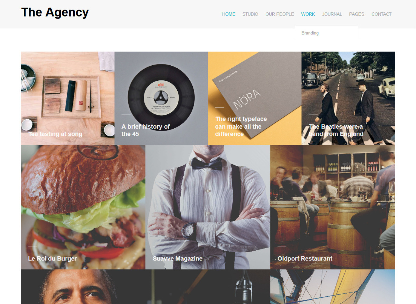 The Agency WordPress Grid Layout Theme
