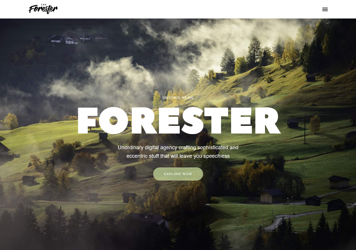 The Forester Flat One Page Digital Agency Theme
