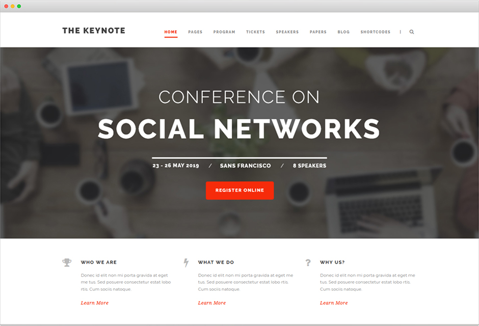 The Keynote Events Theme