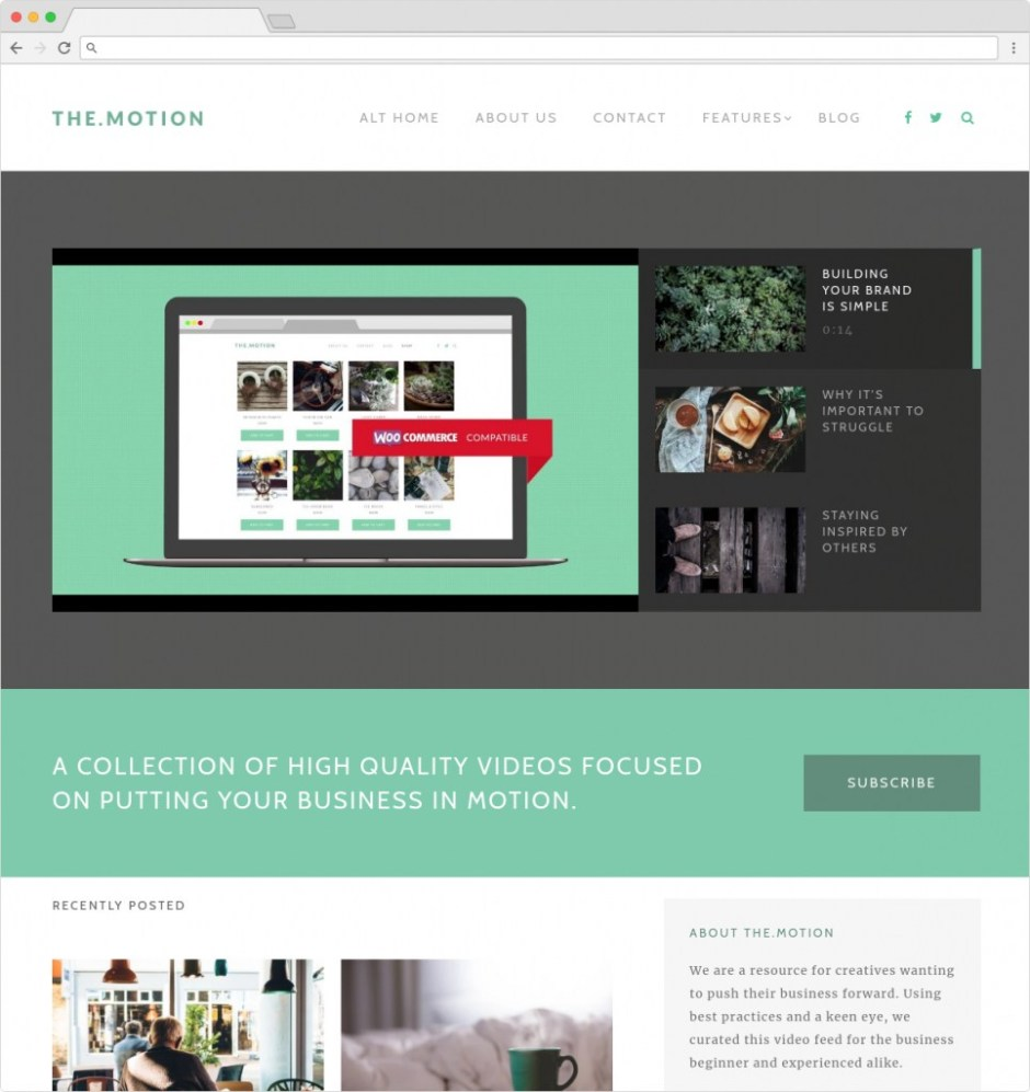The Motion WordPress Podcasting And Multimedia Video Theme