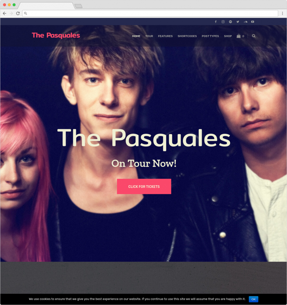 The Pasquales Music Band DJ And Artist WP Theme