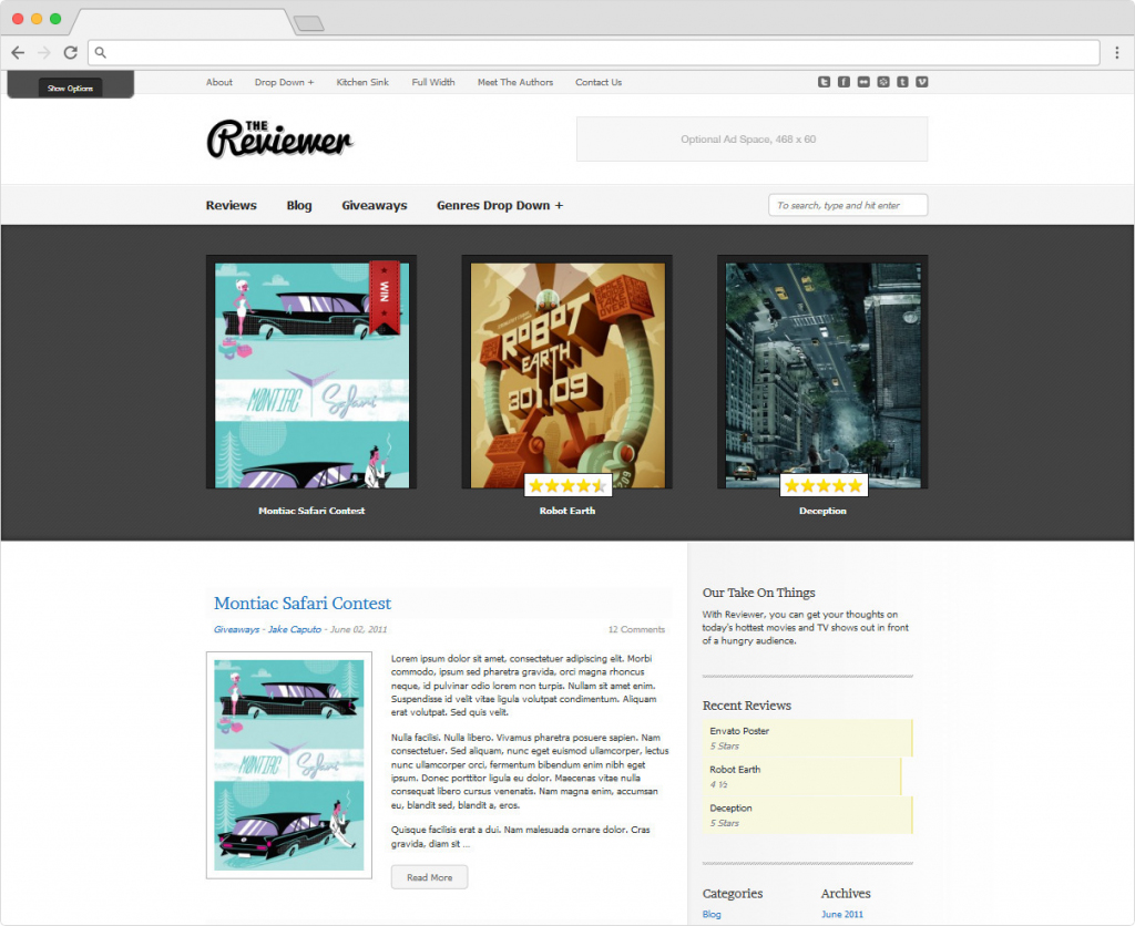 The Reviewer WordPress Theme For Reviewing Things