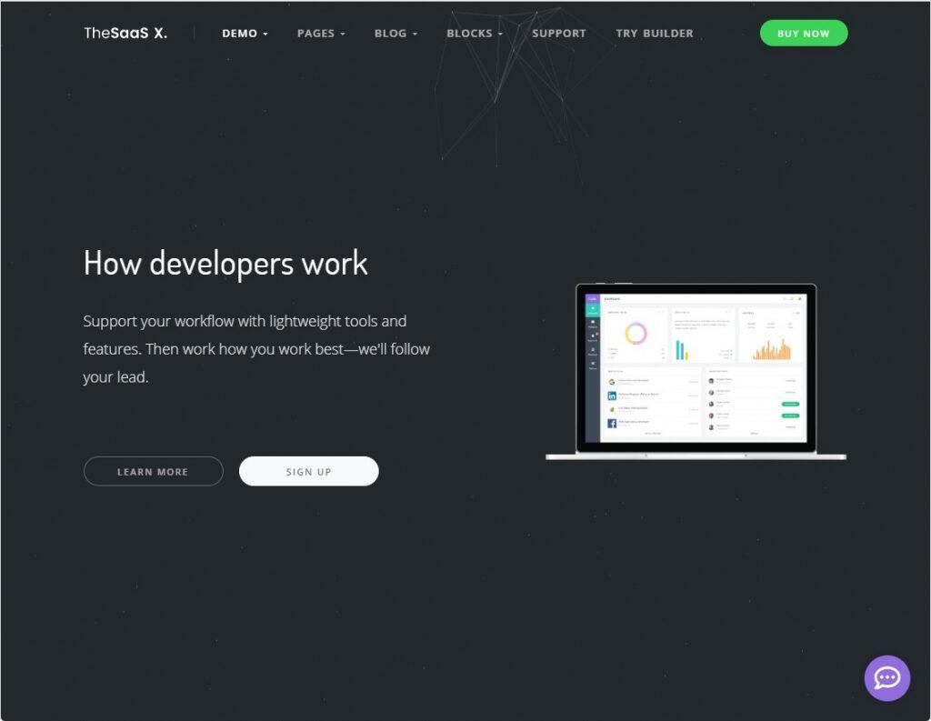 The SaaS X Responsive Startup Tech Theme