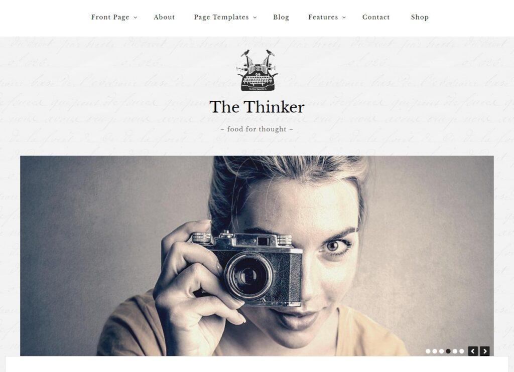 The Thinker WordPress GPL Licensed Theme