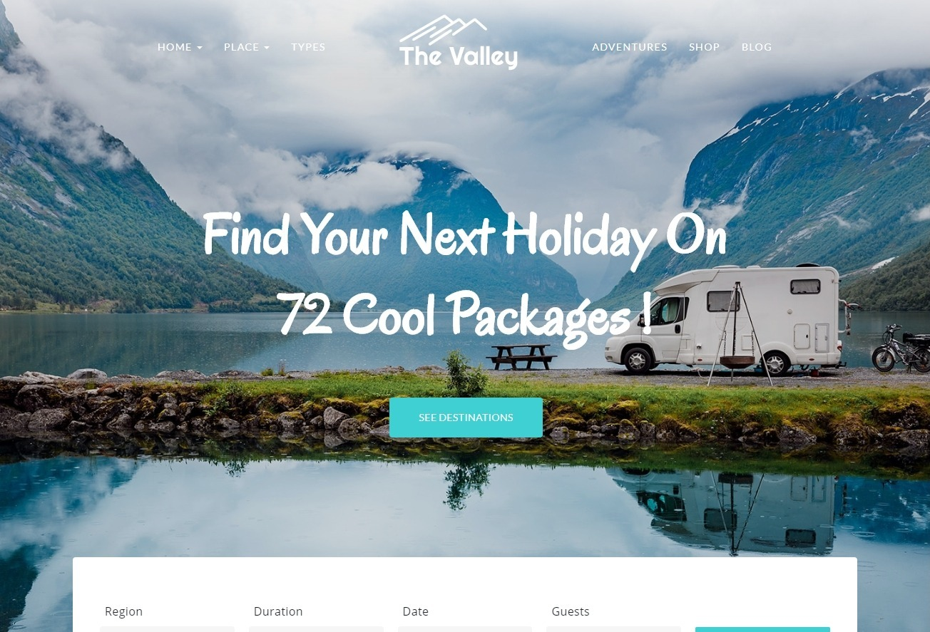 The Valley Tourist Packages and Travel Agency Theme