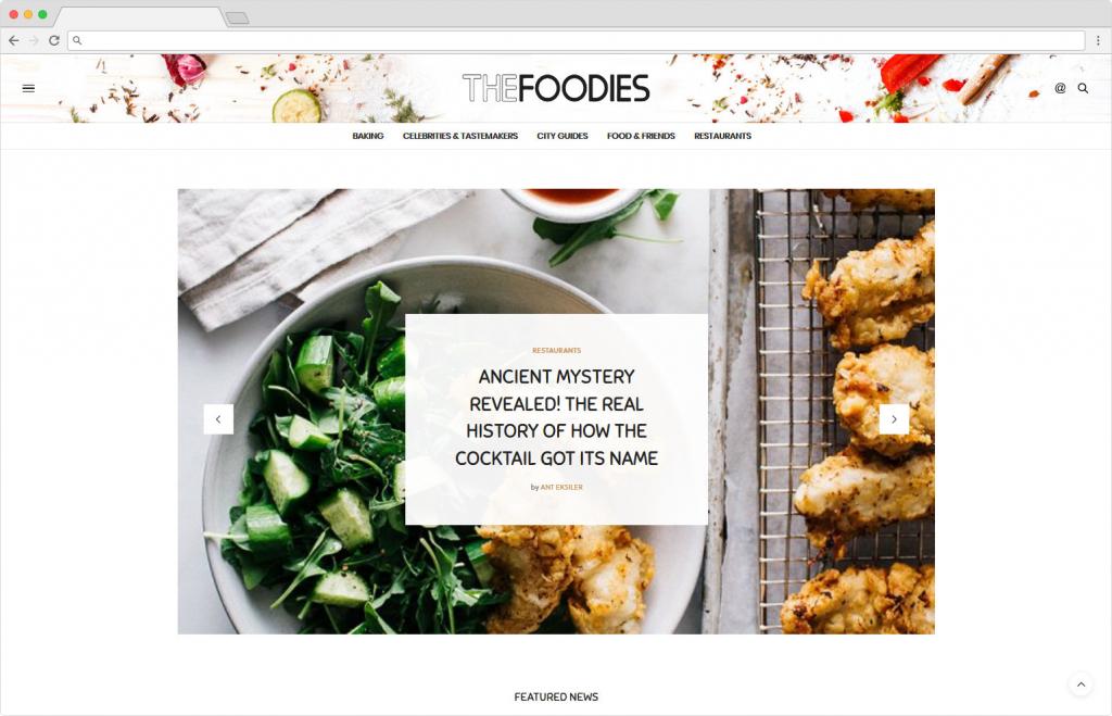 The Voux Popular Baking Blog Magazine Theme