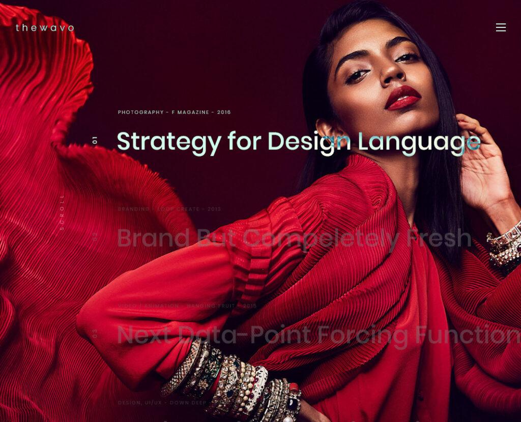 The Wavo Portfolio and Showcase WordPress Theme