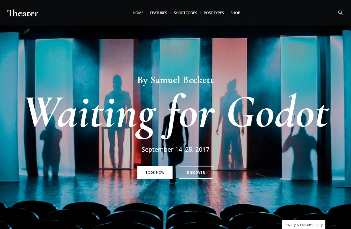 Theater WordPress Theme for Theatrical and Dance Performances