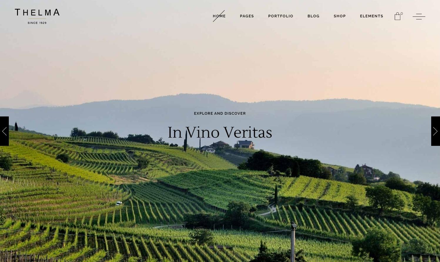 Thelma Classy WordPress Theme for Wineries