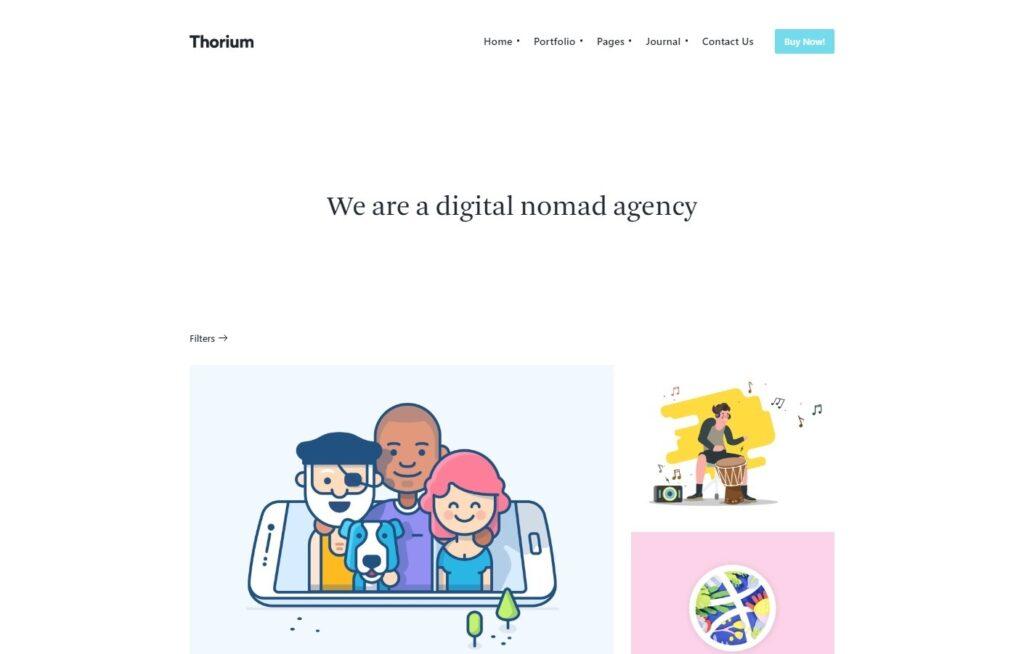 Thorium Minimalist Agency Theme