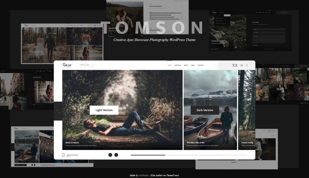 Tomson Creative Ajax Showcase Photography WordPress Theme