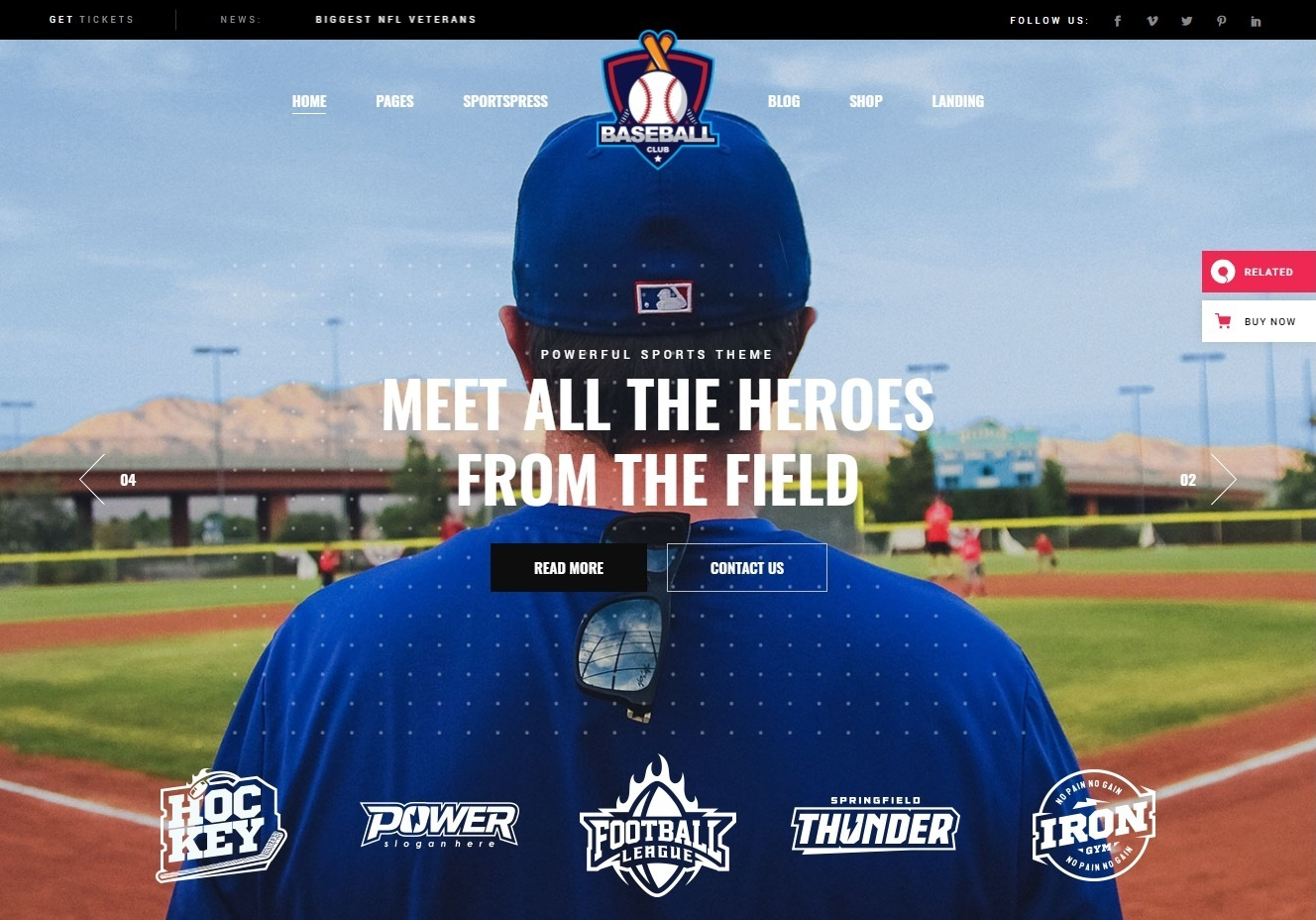 TopScorer WordPress Sports Club Theme for Baseball Football Rugby and More
