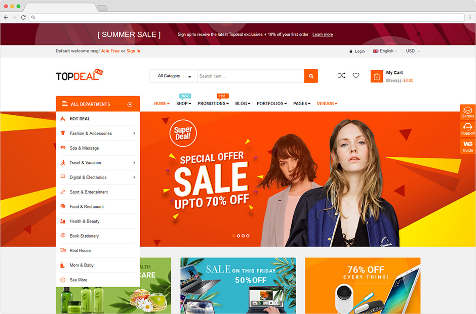 Topdeal Responsive WooCommerce Fashion WordPress Theme