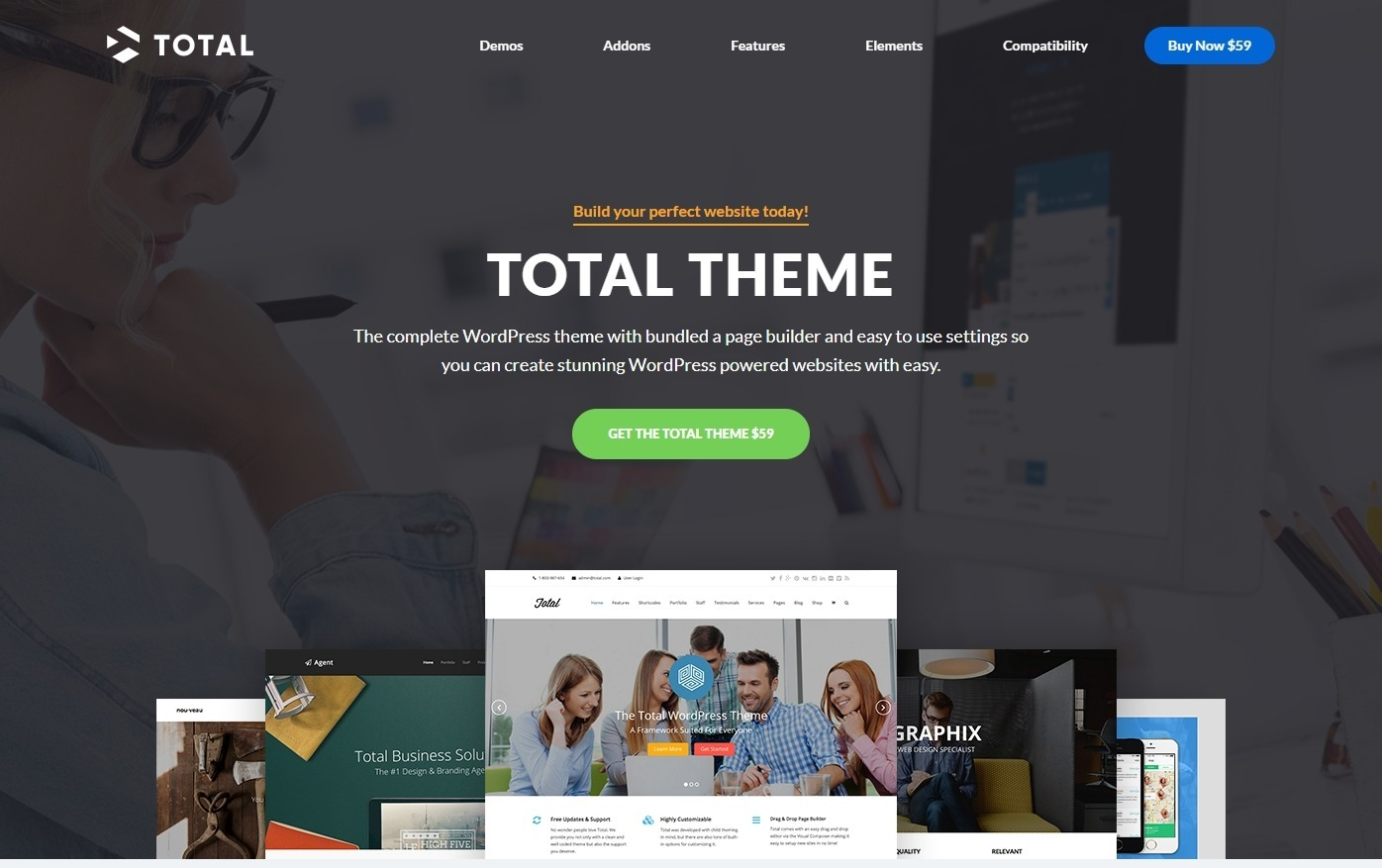 Total Drag and Drop Page Builder Theme with Elementor Support