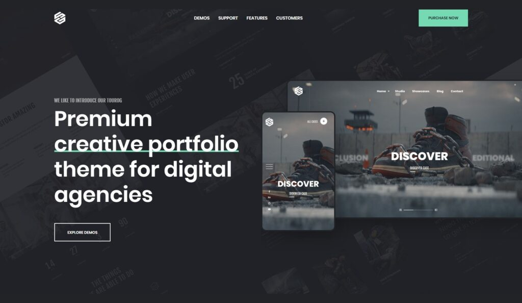 Tourog Creative Photography Agency Landing Page