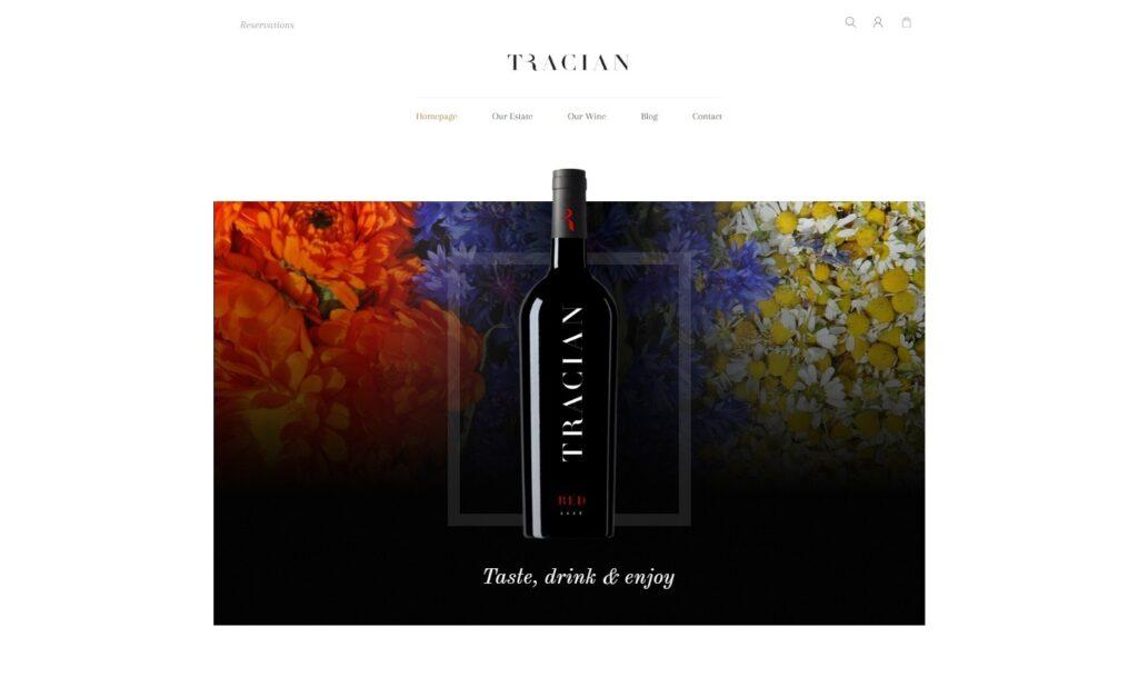 Tracian WordPress Theme for Wineries and Wine Bars