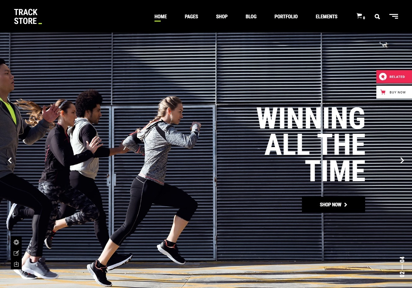 TrackStore WordPress Theme for eCommerce Sporting Goods Shop