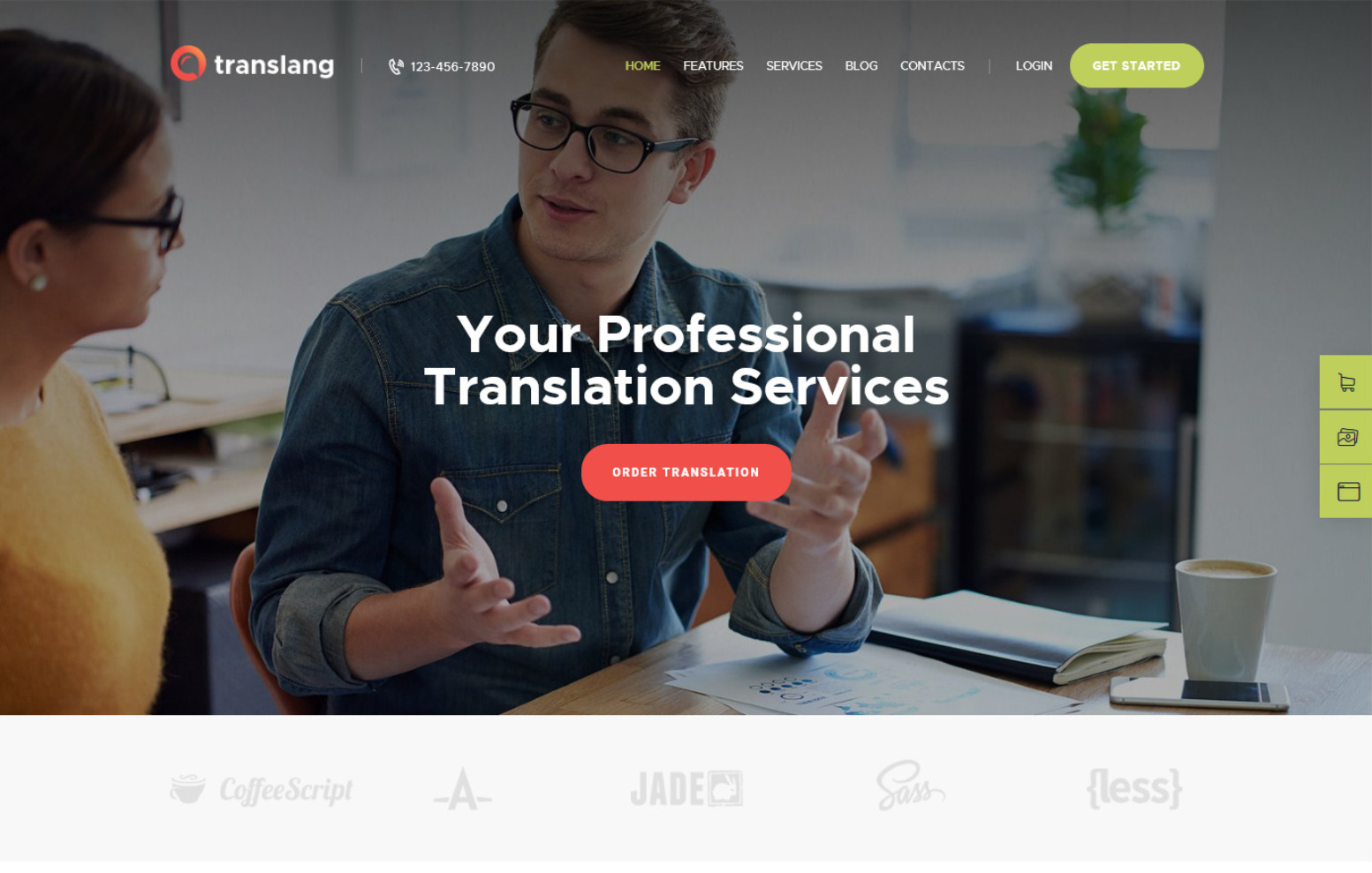 Translang Translation Services Language Courses WordPress Theme