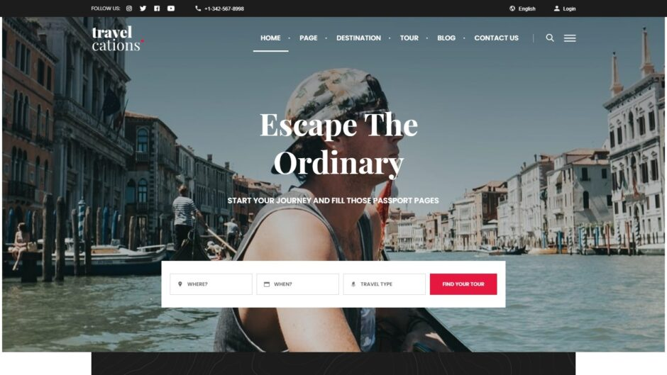 Travelcations Tourism and Travel WordPress Site