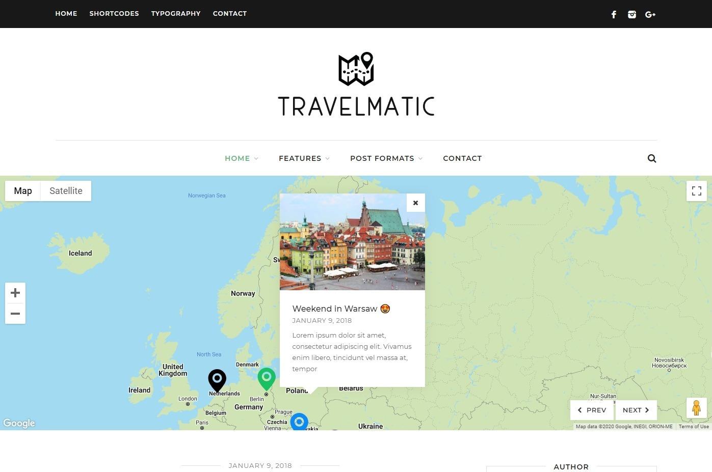 Travelmatic WordPress Blog Theme for World Travelers