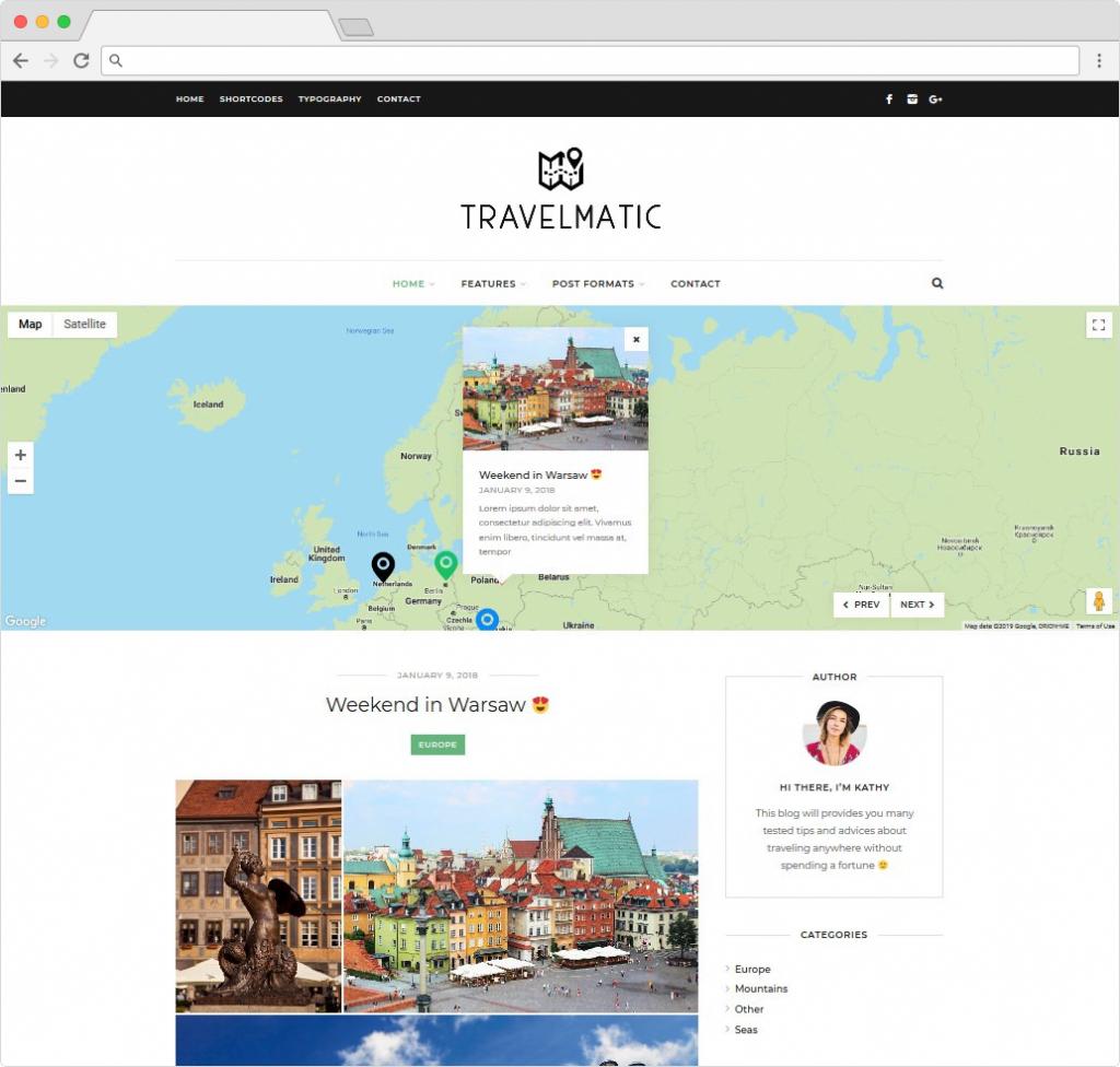 Travelmatic WordPresss Travel Blogging Theme