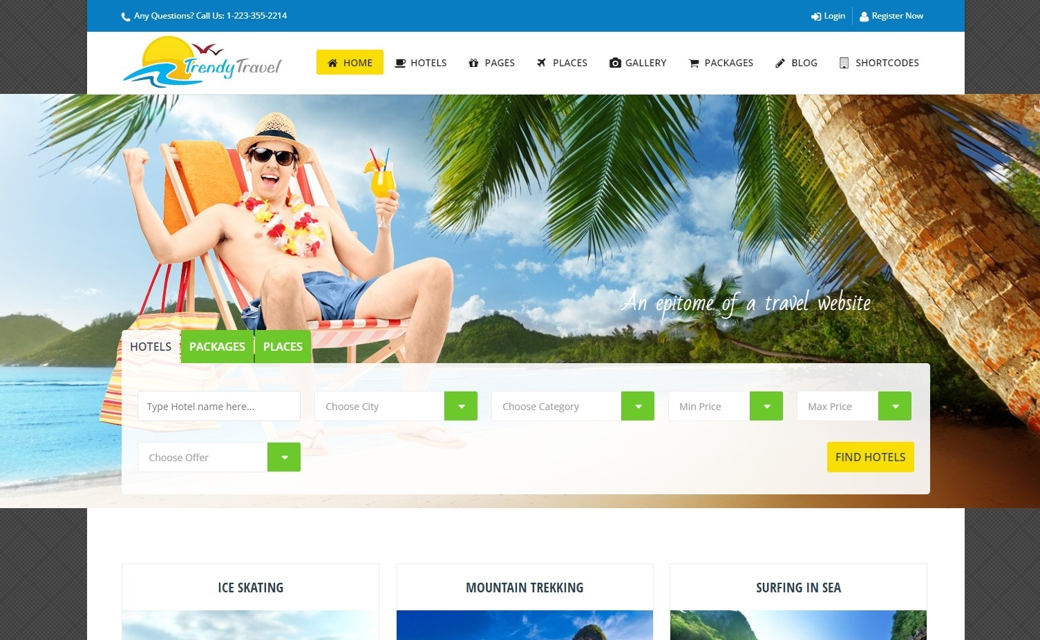Trendy Travel Complete Travel Agency Travel Site