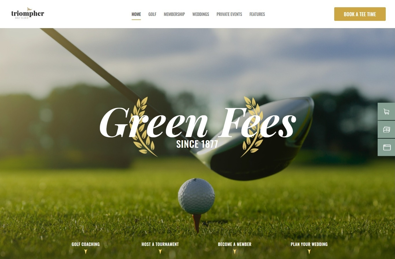 Triompher Golf Club User Friendly and Adaptable Golfing Theme