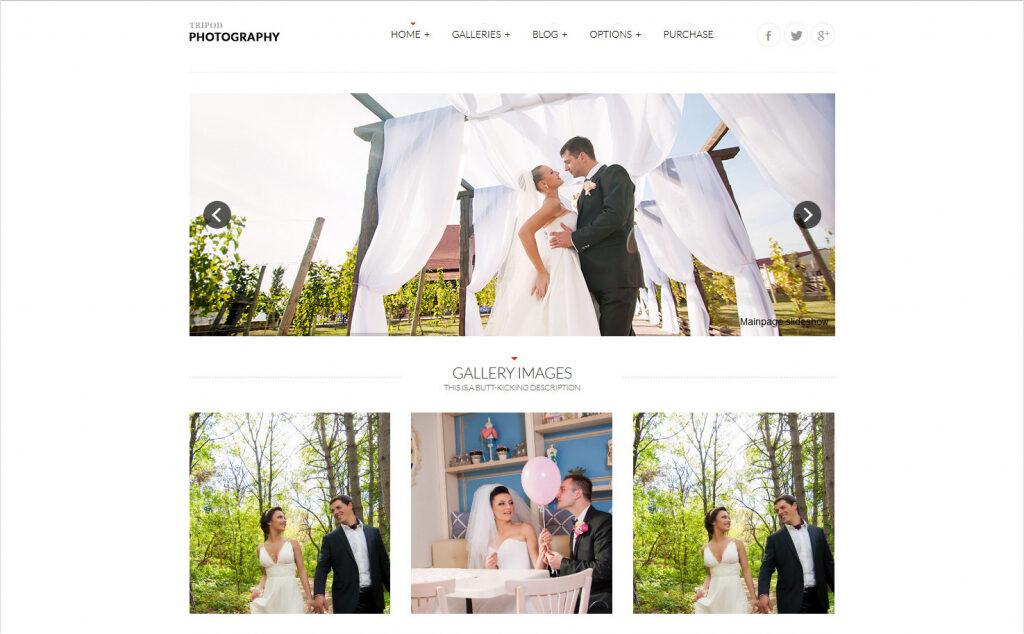 Tripod Photography Portfolio Grid