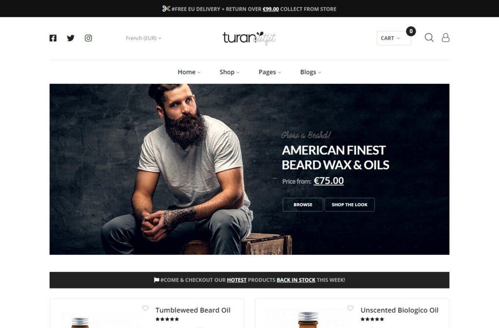 Turan Flat eCommerce WordPress Themes