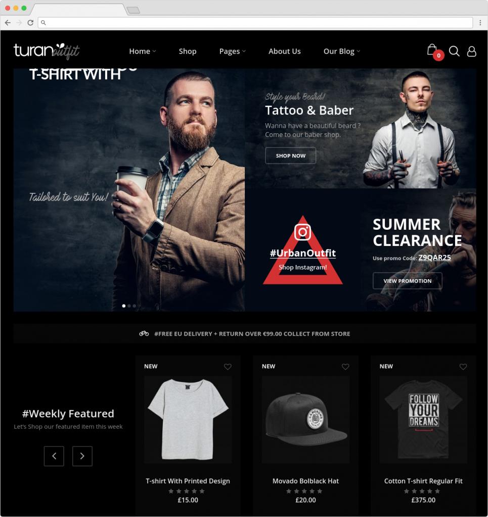 Turan WordPress Theme For Guys With Beards