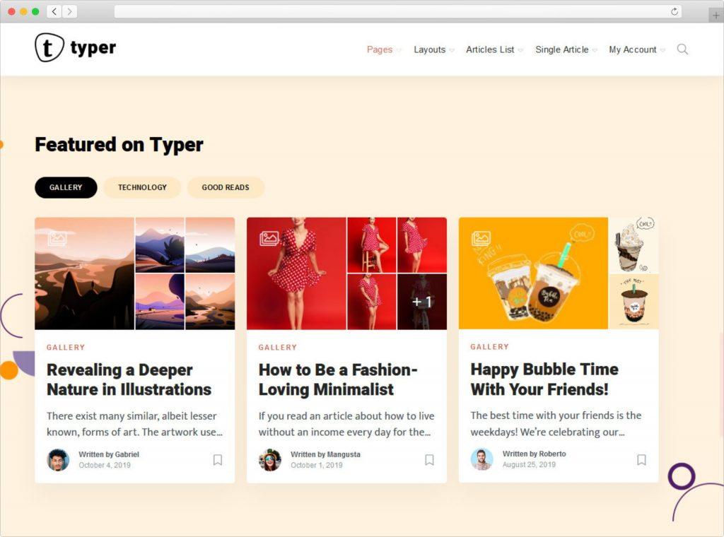Typer Multi Author WordPress Theme for Typography Websites
