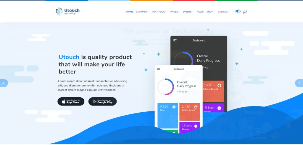 UTouch WordPress App Developers Theme