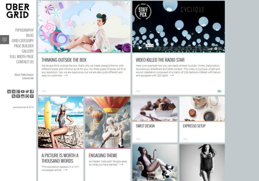 Ubergrid Pinterest Style WordPress Theme