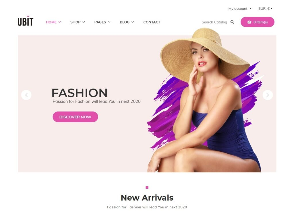 Ubit WooCommerce Fashion Shop Theme