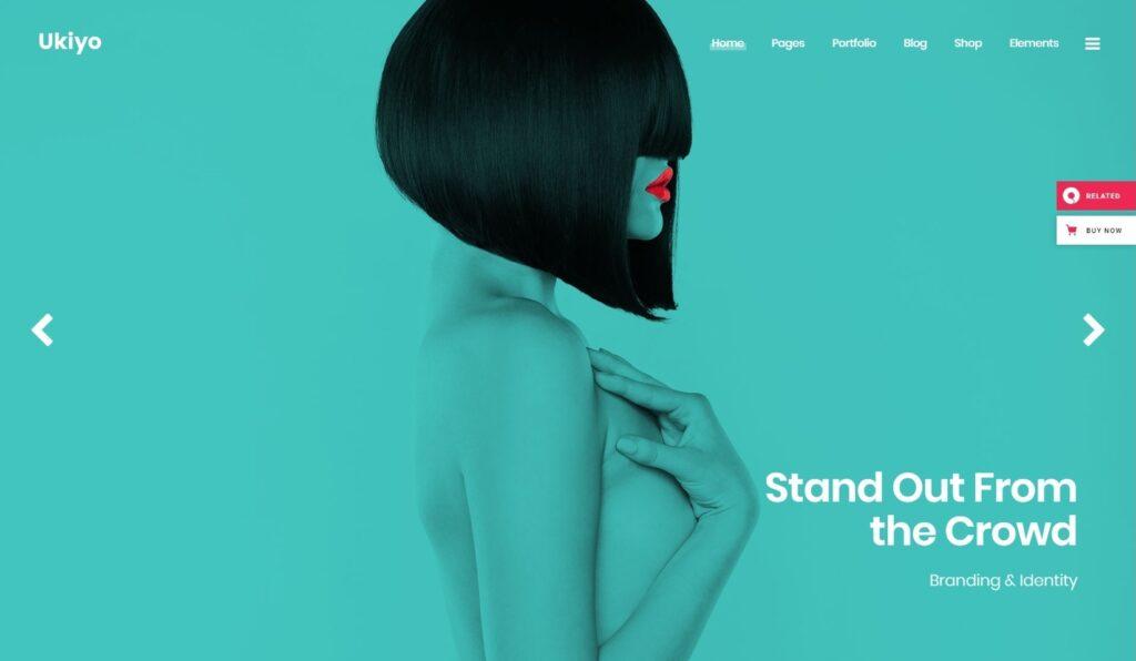 Ukiyo Flat Theme for Developing Brand Identity