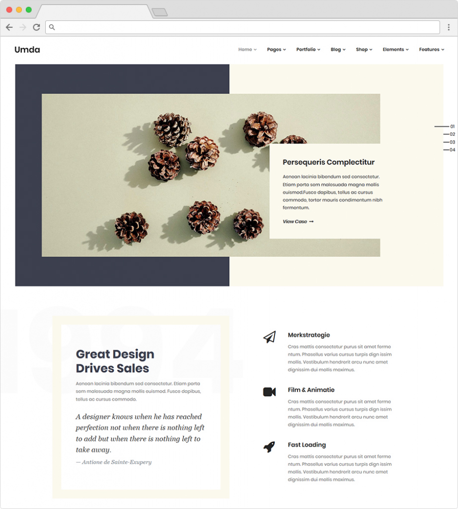 Umda Clean And Creative Responsive WordPress Theme