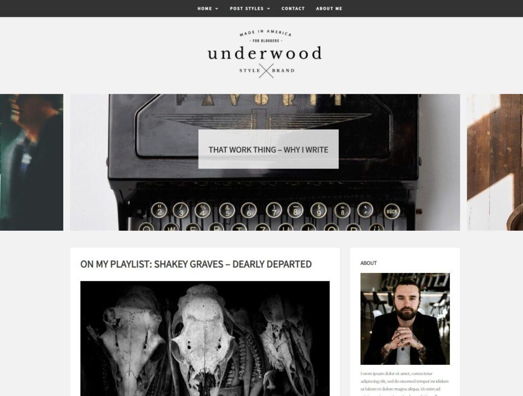Underwood WordPress Theme for GPL Websites