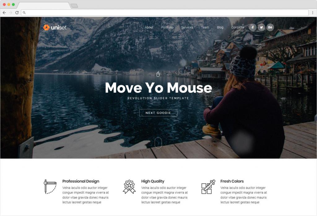 Uniset WordPress Landing Page Theme