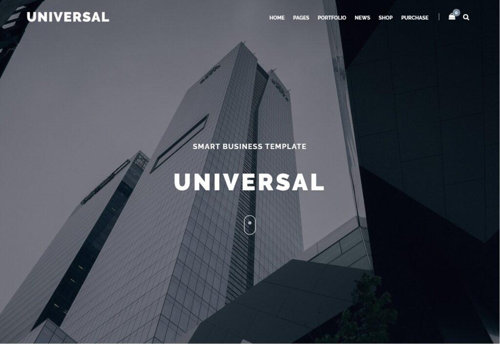 Universal WordPress Theme for Minimalist Websites