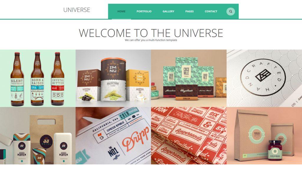 Universe WordPress Grid Portfolio Theme