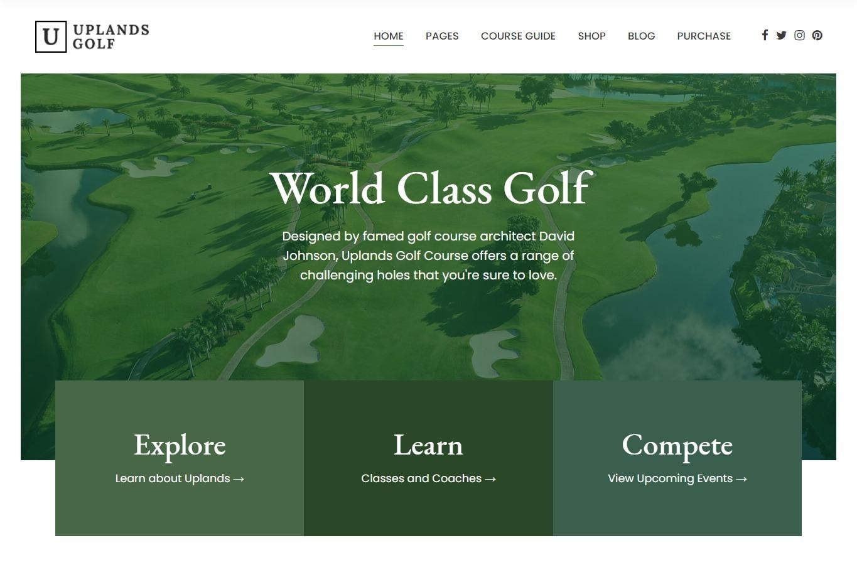 Uplands WordPress Golf Course Theme
