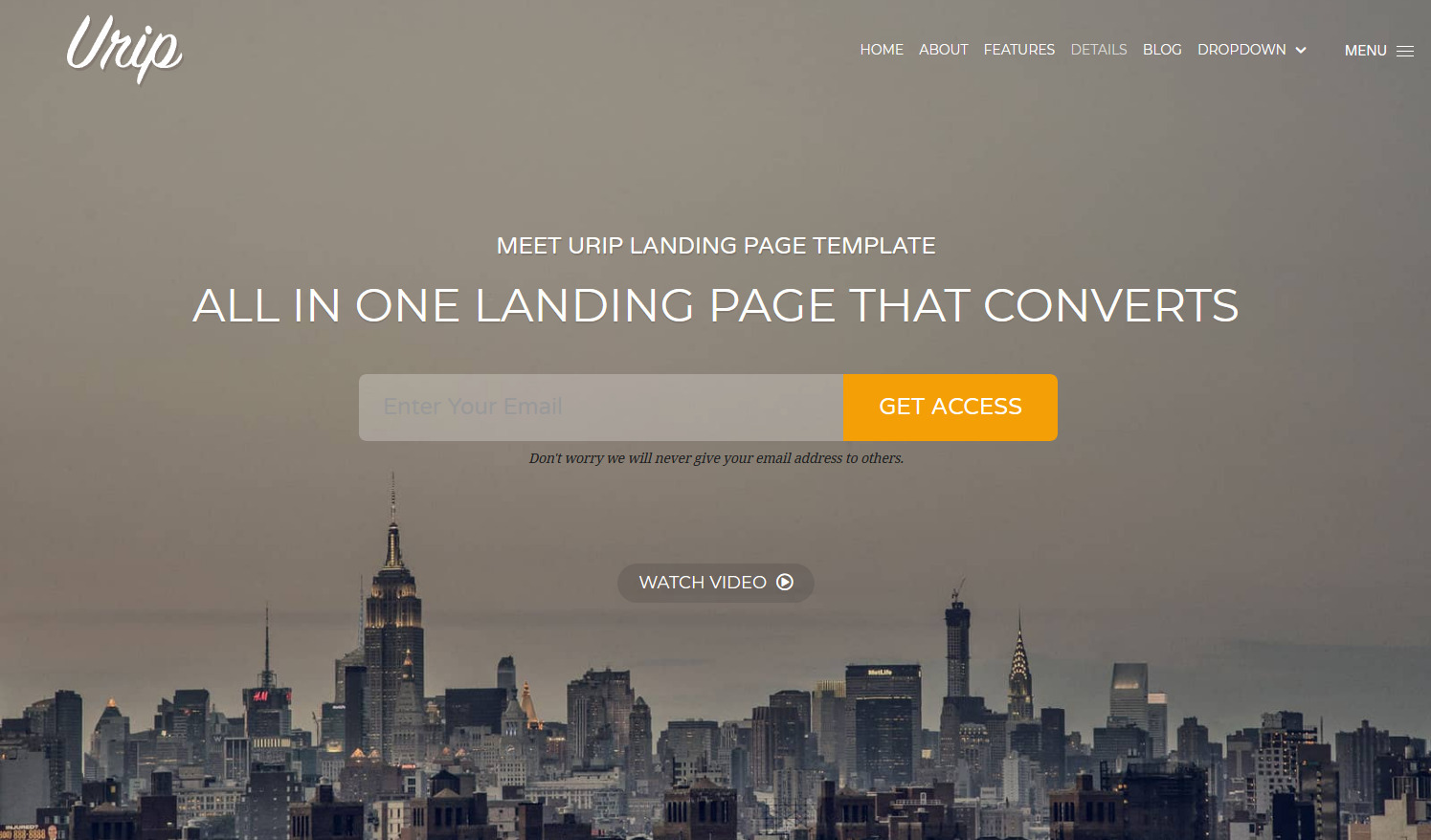 Urip WordPress Theme for Landing Pages