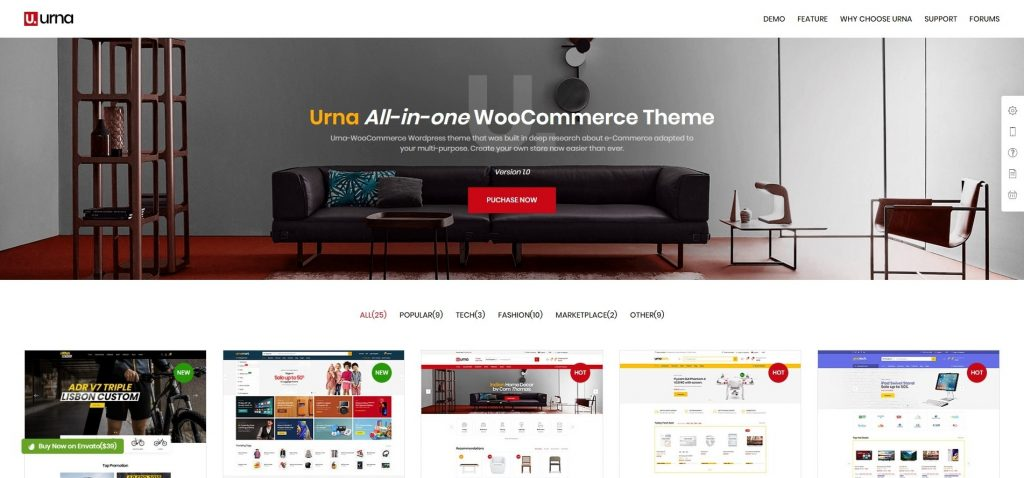 Urna All In One WooCommerce WordPress Theme