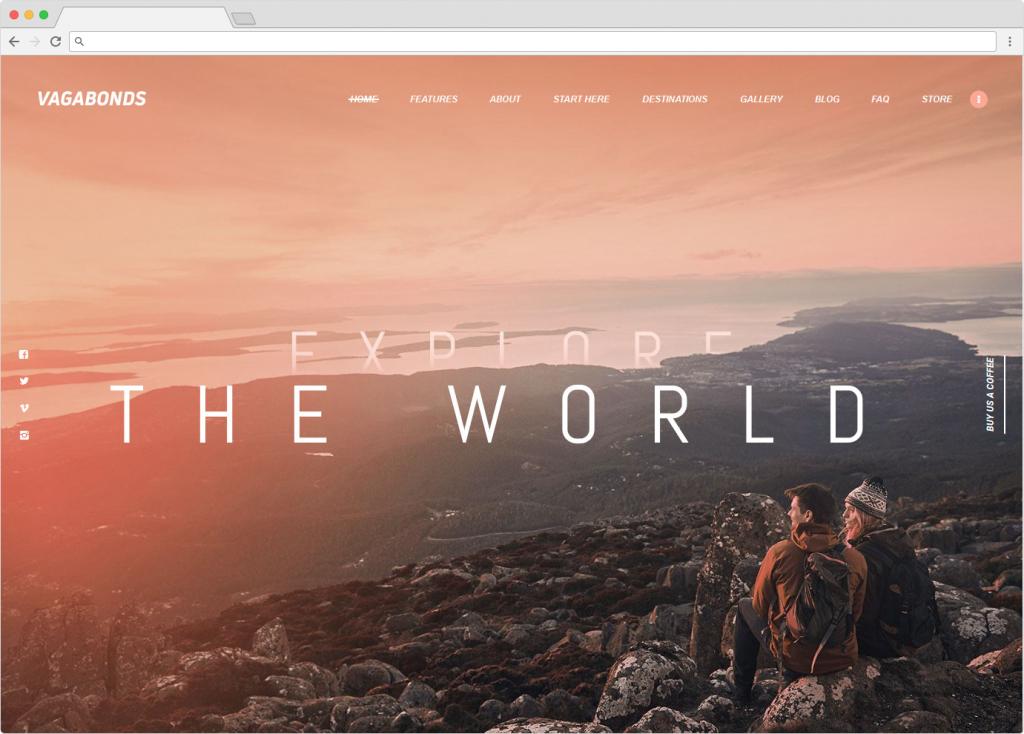 Vagabonds WordPress Travel Blog Theme