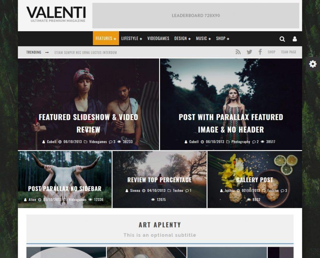 Valenti Premium WordPress Magazine Review Theme