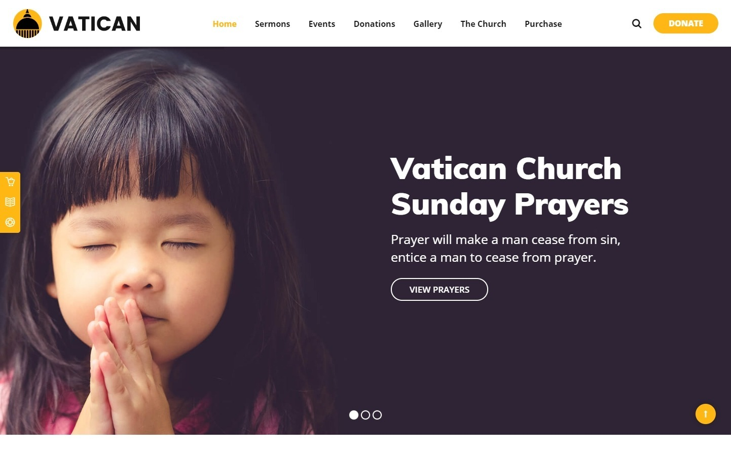 Vatican Theme for Nonprofits and Church Organizations