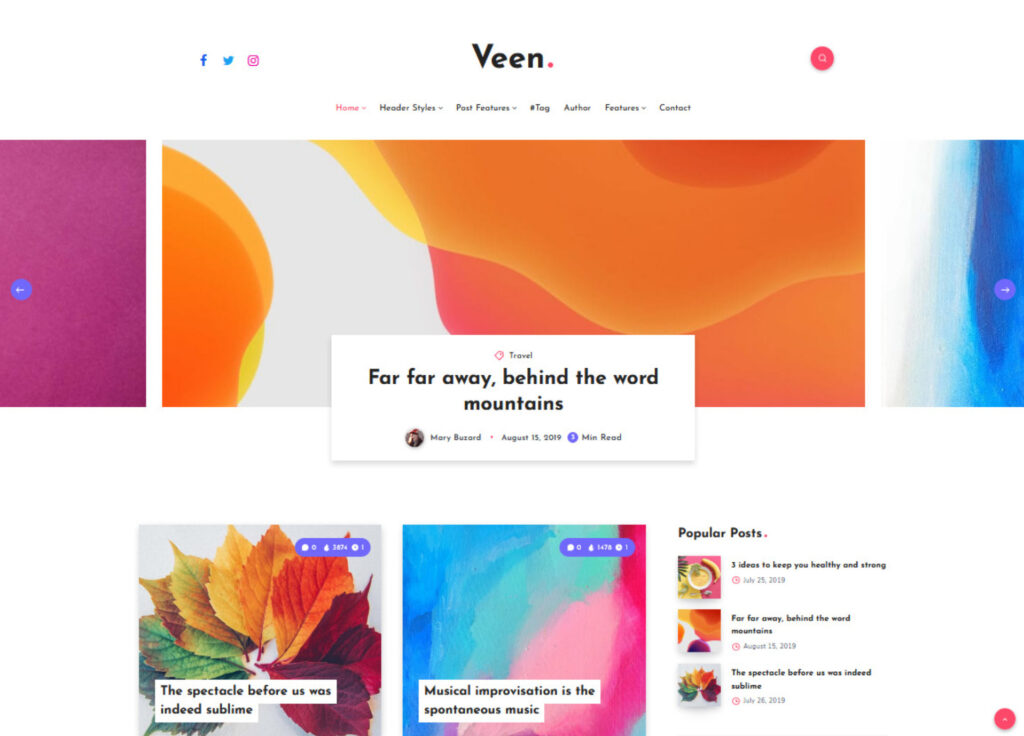 Veen Clean Professional Well Built Blog Theme