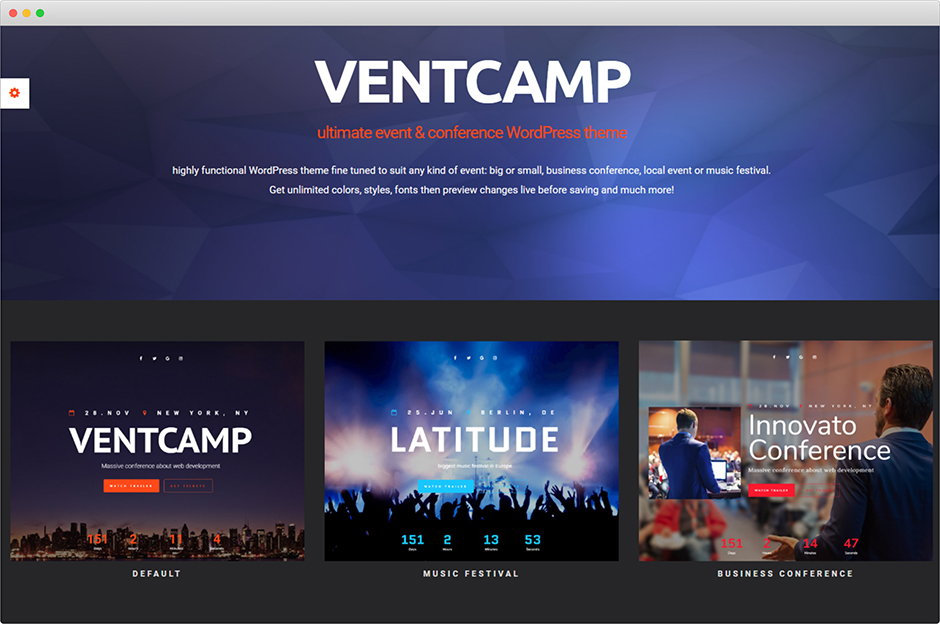 Ventcamp Event and Conference Theme
