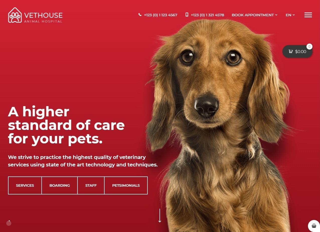 Vethouse Pet Care Veterinary Theme